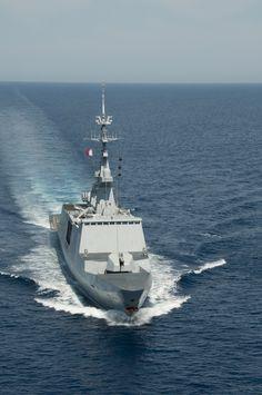 Frence Marine Nationale frégate légère furtive de type La Fayette (FLF) Surcouf photo EMA