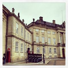 Morning chores at Amalienborg in #Copenhagen. Photo courtesy of nychriskann on Instagram.