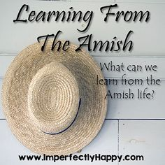 Learning from the Amish.  What can we learn from Amish Life?