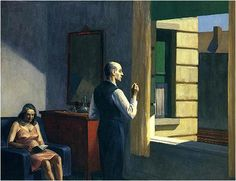 """Hotel By A Railroad, 1952"" by EDWARD HOPPER."