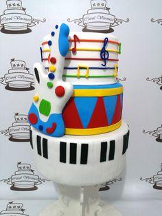 Too two layers are my favorite Music Theme Birthday, Rockstar Birthday, Music Themed Parties, Music Party, Baby Boy 1st Birthday, 1 Year Old Birthday Party, Dance Party Birthday, Boy Birthday Parties, Birthday Cake