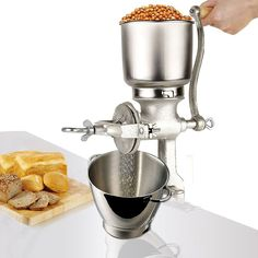 MallMall Corn Wheat Grinder Cast Iron Big Hopper Grain Manual Grinder Home Commercial New by Electric California Small Kitchen Appliances, Kitchen Aid Mixer, Kitchen Tools, Home Appliances, Materiel Camping, Manual Coffee Grinder, Grinding Machine, Milling Machine, Rice Grain