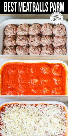 KID'S FAVORITE recipe! This is the BEST EASY family friendly Dinner! These Baked Meatballs Parmesan are quick to make for a busy weeknight using ground beef and ground pork. Smothered in marinara and cheese, these homemade meatballs are not only delicious Healthy Ground Beef, Ground Beef Recipes For Dinner, Dinner With Ground Beef, Ground Pork Recipes Easy, Meals To Make With Ground Beef, Ground Chuck Recipes Dinners, Keto Recipe With Ground Beef, Recipies With Ground Beef, Quick Recipes For Dinner