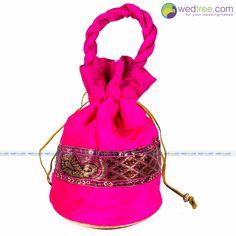 Potli Bag - Velvette with Gold Zari | #Wedtree #PotliBags #DesignerPotliBags