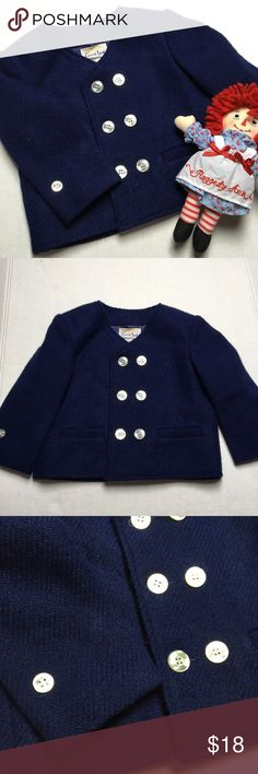 Navy Blue Double Breasted Blazer 💙 Adorable little navy blue blazer. The brand is little lad, so I think it was tailored for a little boy. Non the less my daughter wore it. Who's cares about gender right? She totally rocked this little blazer. I'm sure it would look darling on a boy too. It's so soft. Great for cold days. 💙 little Lad Jackets & Coats Blazers