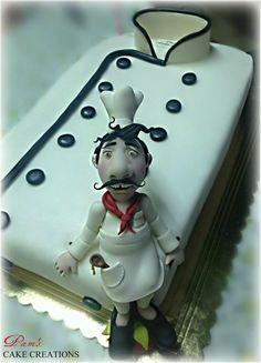 chef cake - Cake by Pamela Iacobellis Cake Icing, Fondant Cakes, Eat Cake, Cupcake Cakes, Cupcakes, Big Cakes, Fancy Cakes, Beautiful Cakes, Amazing Cakes