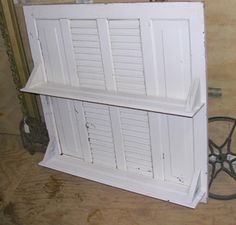 shelving with old shutters
