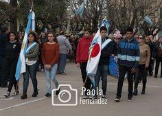 Junto a los juveniles estuvieron presentes en el desfile.