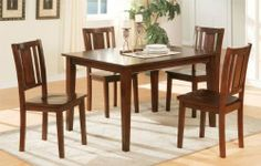 Beautiful Casual Designed 5PC dining set in Cherry finish PD20249 by Click 2 Go. $417.99