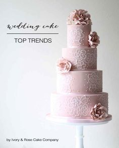 Three-Tiered and Trendy; Chic Wedding Cakes For 2014 | Bridal Musings Wedding Blog