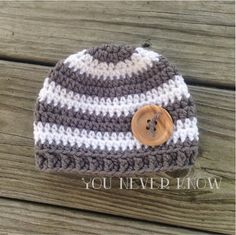 You Never Know by Andrea VanHooser Womack: Striped Newborn Hat