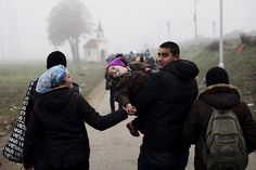 One Stream of Refugees, One Small Town