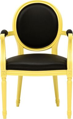 yellow and black chair.  Drama!