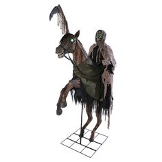 Grand REAPER'S RIDE ANIMATED PROP. Amazing selection for Scary, Gothic & Vampire Animated Props for Halloween at CostumePub. Animated Halloween Props, Creepy Halloween, Halloween Masks, Halloween Decorations, Halloween Party, Christmas Decorations, Halloween Animatronics, Halloween Express, Morris Costumes