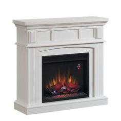 Hampton Bay 41 in. Electric Fireplace in White-23WM9083-PT85 at The Home Depot
