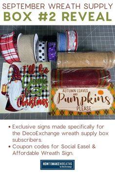 The perfect subscription box for wreath makers! Learn how to get on the subscription from DecoExchange.