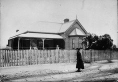 Mudgee under snow. I think snow fell in Mudgee only once - Mudgee, NSW, c. possibly by Arthur Hardwick Local History, Family History, Central Coast, Blue Mountain, Historical Pictures, Old Things, Australia, Snow, South Wales