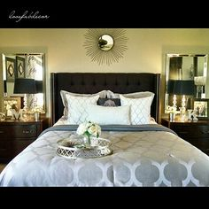 lovefabdecor #masterbedroom #hgtv #hgtvdesign #homedesign #homedecor #interiorandhome #glam #interiordesign #chicdesign #interiordesigner #casa #homegoods #ikea #macys #homegoodshappy