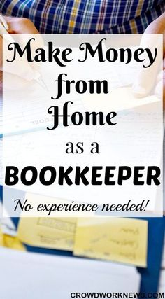 Make Money from Home as a Bookkeeper