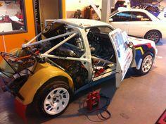 Peugeot Group B rally car, driven by the legend Juha Kankkunen