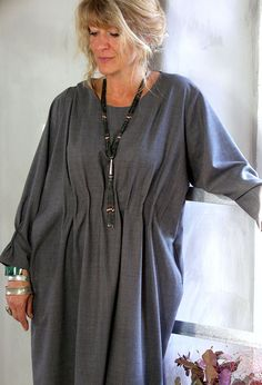Pintuck Dress in fine grey wool, £280. http://terrymacey.com/terry_macey_collections_autumn_winter_2014.html