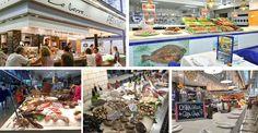 Pescadería y barra degustación - foodie - peixateria - parada de mercado - diseño de pescaderías