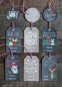 Winter Woodland Christmas Printables Pinned by www.myowlbarn.com