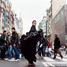 As part of a visionary 5-year plan to achieve a car-free city center, Madrid is restructuring its 24 busiest streets. While some street space will be reserved for bus and bicycle lanes, most will be dedicated to pedestrians and will be shaded by rows of trees. | Via Travel + Leisure