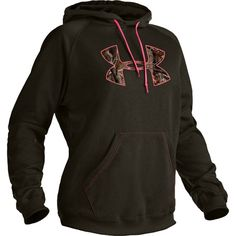 Pink and Camo Under Armour Womens Tackle Twill Hoody
