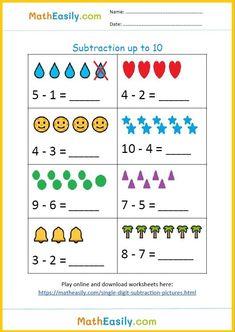 Subtraction for Kindergarten