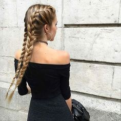 ♡ braid // hair // style // hairstyle // beauty // colour // color // hairdye // @arielleannabeth