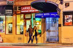 Admiral Hotel And Street At Night In The Tenderloin, San Francisco By Mitchell Funk  www.mitchellfunk.com