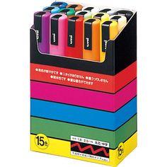 UNI POSCA 15 couleurs de peinture Marker Set par pikobeagle2000