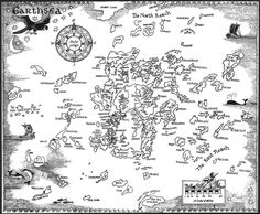 the Earthsea map (Ursula K Le Guin)