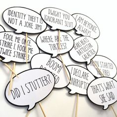 Excited to share this item from my shop: Office Cupcake Toppers - The Office Quotes Funny - Word Bubbles - Layered Cardstock - TV - 12 Pack of Different Quotes - Michael Scott Office Party Decorations, Office Themes, Cupcake Decorations, Office Ideas, Office Themed Party, Office Parties, The Office Wedding, Office Tv Show, Office Fan