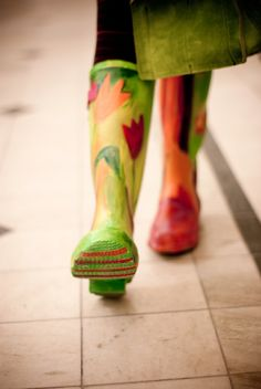 Painted rubber boots - by MENQ