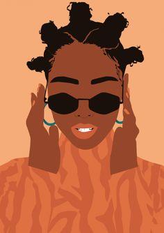 Bantu Knot - Web designer entre Nantes et la Vendée Japon Illustration, Flat Design Illustration, Woman Illustration, Character Illustration, Illustration Sketches, Black Girl Cartoon, Black Girl Art, Black Women Art, Art Afro