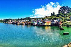 Palafitos everywhere. Castro, Chiloe