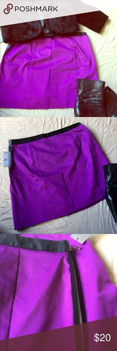 Sale 🌟BNWT Worthington Purple Skirt w/Zipper BNWT gorgeous purple skirt with leather zipper side accent. Worthington Skirts