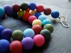 Multi colour handmade polymer clay beads