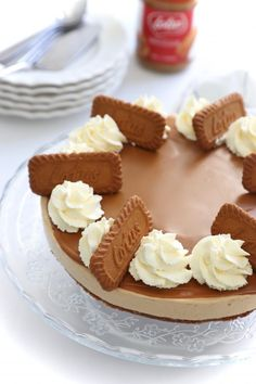 Lotus Speculoos Cheesecake (No Bake) Biscoff Recipes, Cake Recipes, Cheer Cakes, Chocolate Oatmeal Cookies, Xmas Food, Lotus, Mini Cheesecakes, Savoury Cake, Desert Recipes