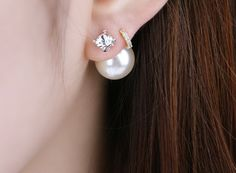 Celebrity favorite Dior inspired Pearl / cubic by RedEyedRabbit