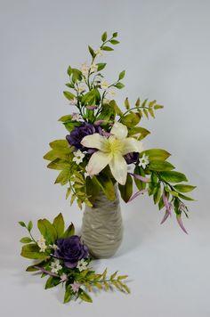 Flowers - Bombax, potate vine, fern, ornithogalum, peper chilli, rose