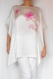 jedwab ręcznie malowany - Szukaj w Google Dress Painting, Fabric Painting, Fabric Art, Hand Painted Dress, Painted Clothes, Weaving Textiles, Silk Art, Elegant Saree, Fashion Project