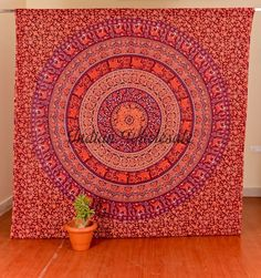 Indian Mandala Tapestry Vintage Wall Hanging Throw Cotton Bedspread Decor Art IW