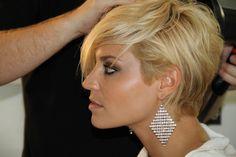 Lisa D'amato with a longer undercut style