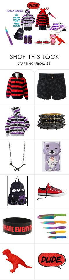 """""""CATACLYSM!!!!!!!"""" by candicore ❤ liked on Polyvore featuring Yves Saint Laurent, Boohoo, Lady Grey, Converse, Hot Topic and Hampton Forge"""