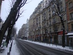 Nieve sobre las calles de Paris