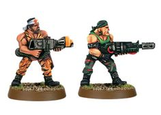 Imperial Guard Catachan Assault Weapons   Games Workshop