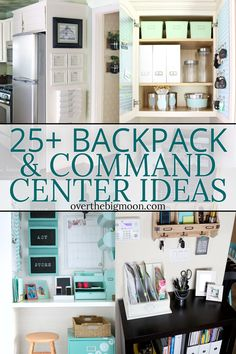 Declutter And Style And Design For Put Up-Spring Crack Homeschool Good Results Functional And Organized Backpack And Command Center Organization Ideas That Are All Great Solutions To Help You Stay Organized Backpack Storage, Backpack Organization, Home Organization, Organization Station, Organisation Hacks, Household Organization, Home Office Decor, Diy Home Decor, Family Command Center